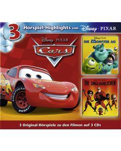 Disney: 3er MP3-Box Cars, Die Monster AG, Die Unglaublichen