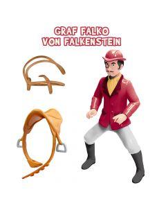 Bibi & Tina: Spielfigur Falko reitend einzeln