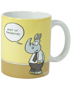 Ruthe: Tasse - Faultier Donnerstag
