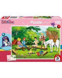 Bibi & Tina: Puzzle mit Motiv-Turnbeutel - 100 Teile