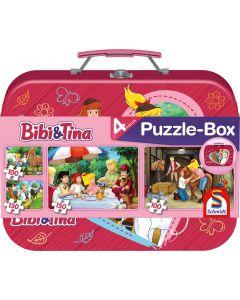 Bibi & Tina: Puzzle-Box im Metallkoffer - 2x 100, 2x 150 Teile