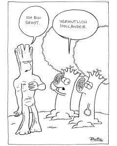Ruthe: Original Zeichnung Unikat - Baum Groot Holländer