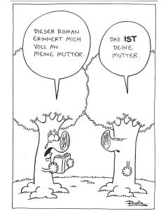 Ruthe: Original Zeichnung Unikat - Baum Mutter