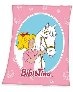 Bibi & Tina: Fleece - Decke Bibi und Sabrina (130 x 170 cm)