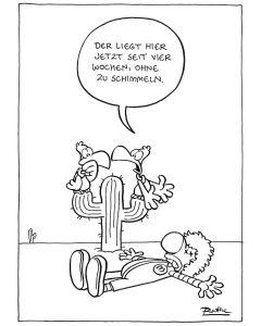 Ruthe: Original Zeichnung Unikat - Geier Kein Schimmel
