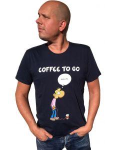 Ruthe: T-Shirt Coffee to go (blau)