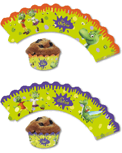 Die Olchis: Cupcake Deko-Banderolen
