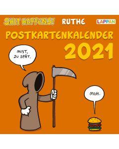 Ruthe: Shit happens! - Postkartenkalender 2021