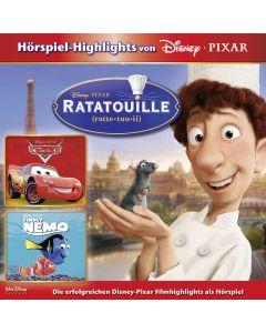 Disney: 3er MP3-Box Ratatouille, Cars, Findet Nemo
