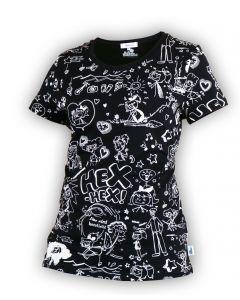 Bibi Blocksberg: Comic-Shirt (schwarz)