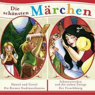 Grimms Märchen: 4er MP3-Box Schneewittchen / Der Froschkönig / Hänsel und Gretel/ Bremer Stadtmusikanten