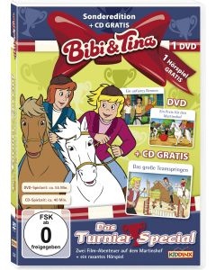 Bibi & Tina: 2er Box DVD+CD Turnier-Special