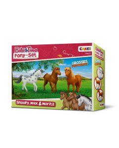 Bibi & Tina: Ponys-Set (Moritz, Max und Snoopy)