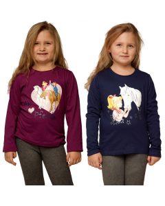 Bibi & Tina: 2er Langarmshirt (blau/lila)