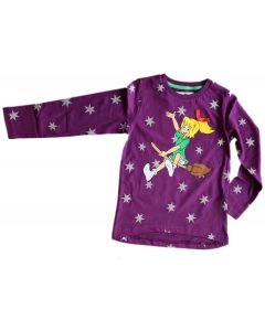 Bibi Blocksberg: Langarmshirt mit Sternen (lila)