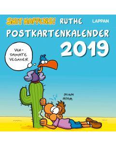 Ruthe: Shit happens! - Postkartenkalender 2019