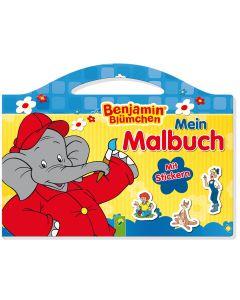 Benjamin Blümchen: Malbuch mit Stickern