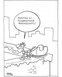 Ruthe: Original Zeichnung Unikat - Ausstieg rechts