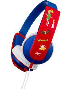 Bibi Blocksberg: JVC Kinderkopfhörer Edition rot-blau