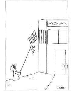 Ruthe: Original Zeichnung Unikat - Herzklinik