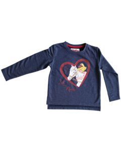 Bibi & Tina: Sweatshirt mit Glitzeraufdruck (blau)