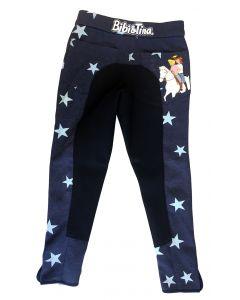 Bibi & Tina: Reithosen-Leggins mit Sternen (blau)